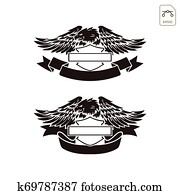 harley davidson emblem or logo symbol vector isolated