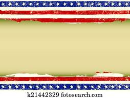 Horizontal American dirty flag