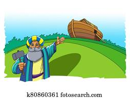 Noah built an ark to escape from the flood
