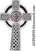Celtic cross symbol - tattoo or art