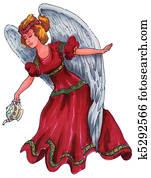 Christmas tea Angel