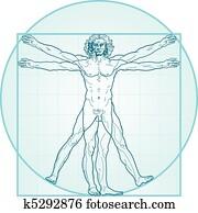dass, vitruvian mann, (Aqua-Air, version)