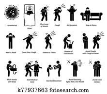 zeichen, symptome, von, coronavirus, und, pr?vention, tips.