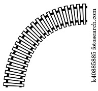 Curved Train Tracks Clipart