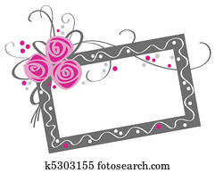 floral frame with rose bouquet