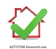 Home inspection. Success metaphor