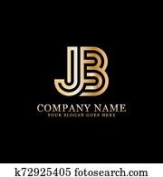 jb, abzeichnen, logo, designs,, monogram, logo, inspiration