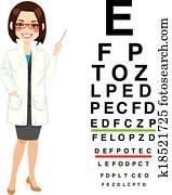 Professional Female Optician