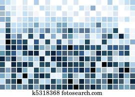 blue mosaic, wallpaper