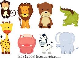 Wild animal cartoons