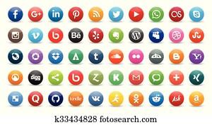 50 social icons