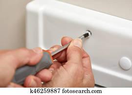 Stock Foto Entfernen Badezimmer Facher Luftung Decke Reinigen