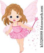Cute little baby fairy