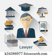 Vector lawyer, attorney or jurist concept background