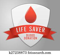 Blood donation shield