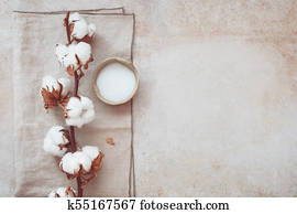 Spa still life with beauty skin care products