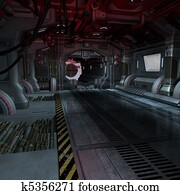background or composing image inside a futuristic scifi spaceship