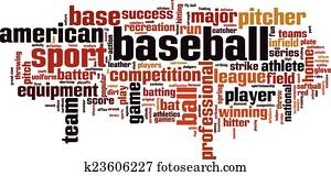 Baseball word cloud