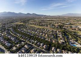Las Vegas Nevada Neighborhoodn Aerial