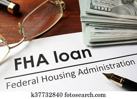 Paper with words fha loan