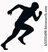 Sport Silhouette - Male Sprint Athlete