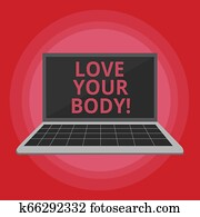 Word writing text Love Your Body. Business concept for Selfacceptance take care of yourself have a healthy diet.