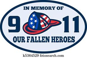 9-11 fireman firefighter helmet