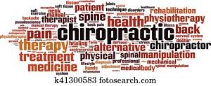 Chiropractic word cloud