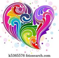 Heart-shaped Rainbow