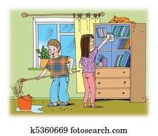 aufr umen illustrationen und clip art aufr umen lizenzfreie illustrationen und. Black Bedroom Furniture Sets. Home Design Ideas