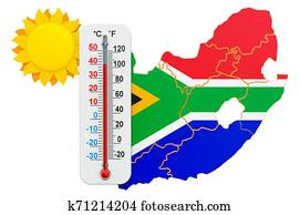 Heat in South Africa concept. 3D rendering
