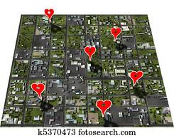 Placemark favorite places town map place marker