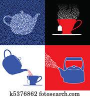 Tea party symbols