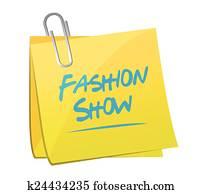 fashion show memo illustration