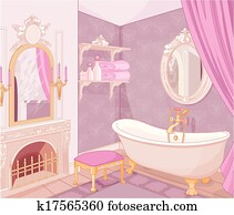 Interior of bathroom in the palace