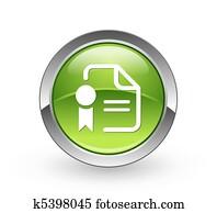 Certificate - Green sphere button