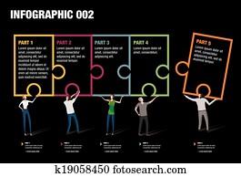 puzzel, infographic