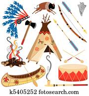 indianer, klammer kunst, heiligenbilder