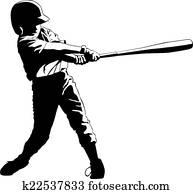 jungendlicher, liga, baseball, hitter