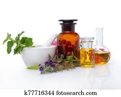 Natural medicines - extract from herbs.