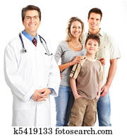 doctor and family