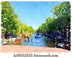 DW Amsterdam canal bridge 1