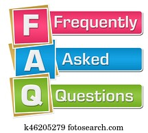 FAQ - Frequently Asked Questions Colorful Vertical