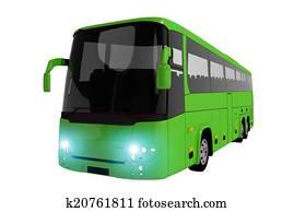 Green Coach Bus