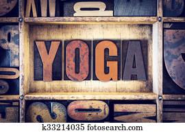 Yoga Concept Letterpress Type