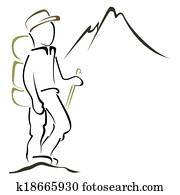 bergsteigen, symbol