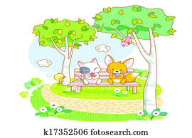 cute animals in the park