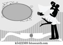 Clip Art - hochzeitspaar k11872426 - Suche Clipart, Poster ...