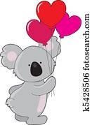 Koala Heart Balloons