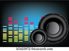 music speaker background